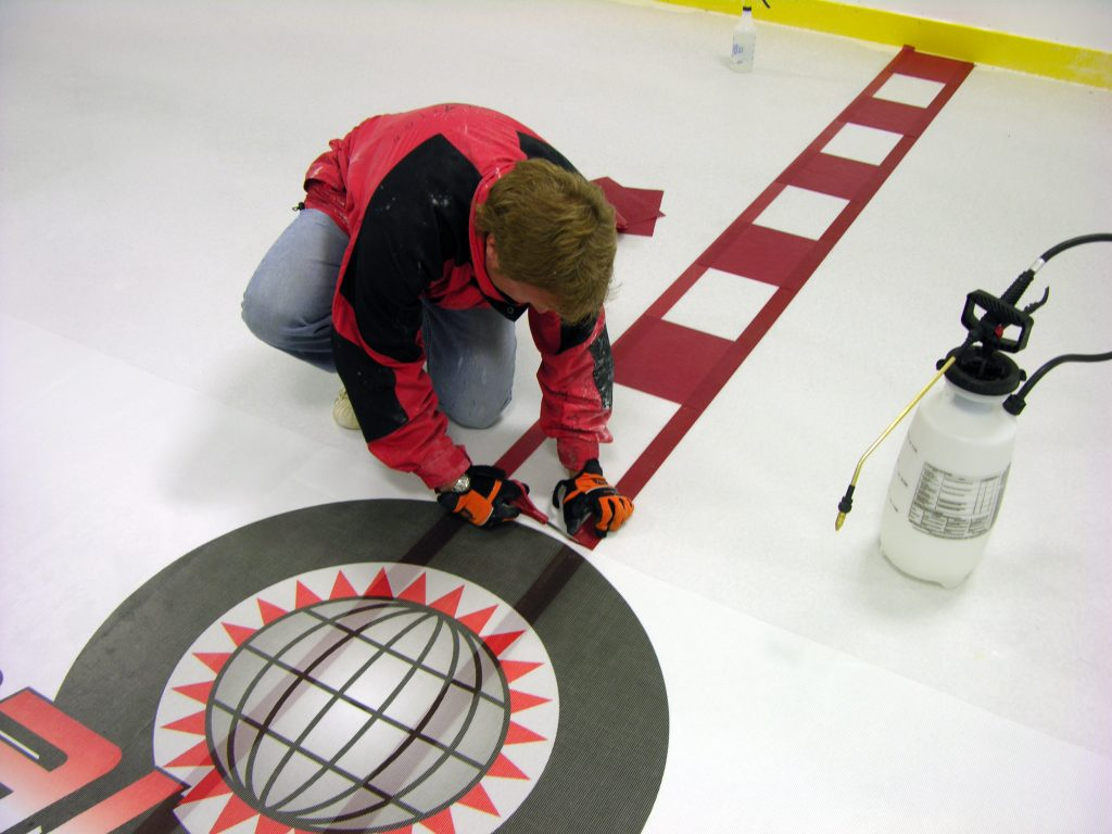 Rink Board and Ice Advertising