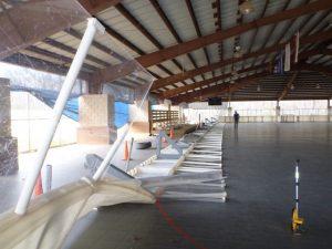 McDonough GA Storm damaged Inline dasher boards