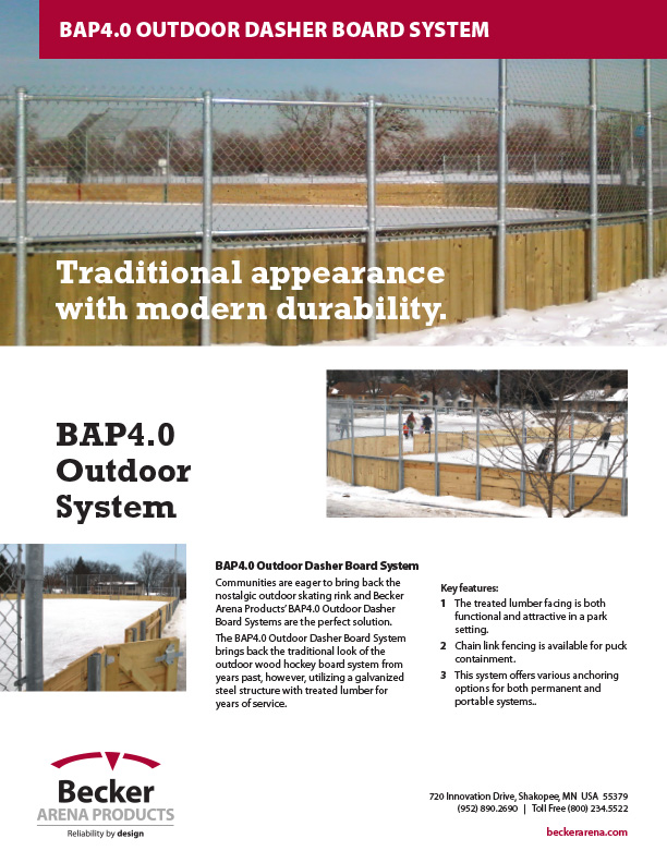 BAP4.0 Series Outdoor dasher board system